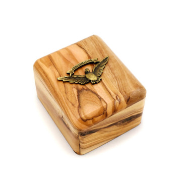 Olive Wood Gift Box with Confirmation Dove
