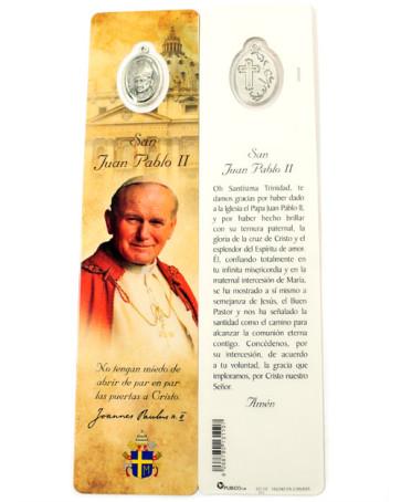 Laminated Bookmarker Saint John Paul II Spanish