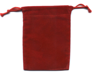 Red Soft Velour Rosary Pouch
