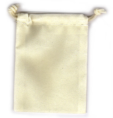 Cream Soft Velour Rosary Pouch