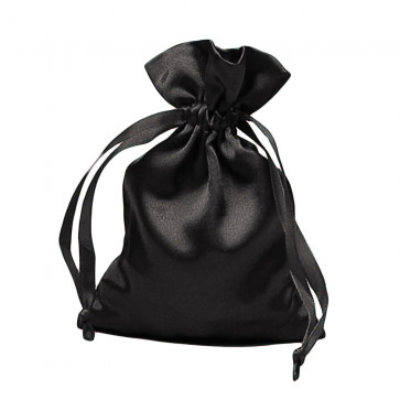 Rosary Pouch Fine Black Satin