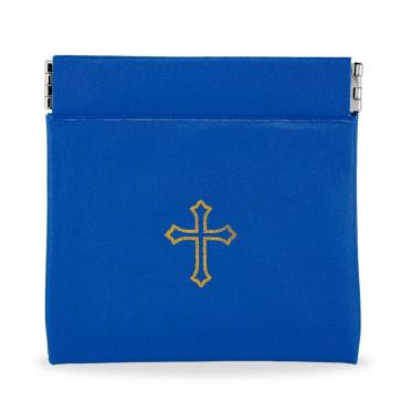 Blue Vinyl Rosary Pouches
