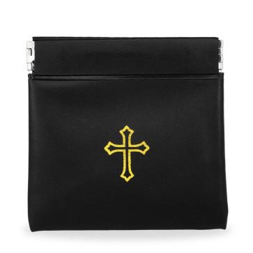 Black Vinyl Rosary Pouch