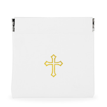 White Vinyl Rosary Pouch