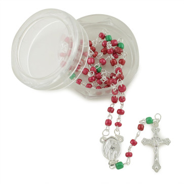 Lady of Lourdes Glass Beads Rosaries w/ Box
