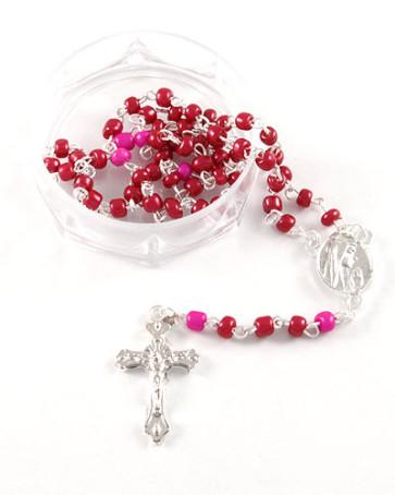 Glass Beads Lourdes Rosaries w/ Box