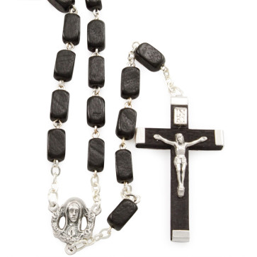 Rectangular Wooden Beads Rosaries