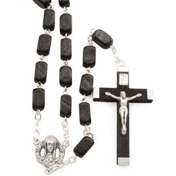 Rectangular Wooden Beads Rosaries