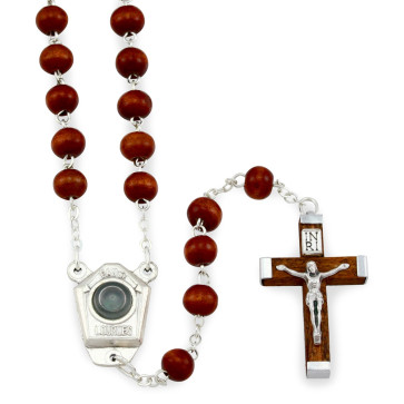 Lady of Lourdes Wooden Rosary