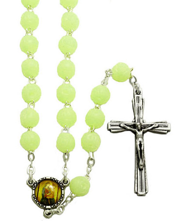 Catholic Rose Scented Phosphorus Beads Rosary