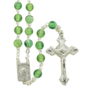Lady of Lourdes Silk Beads Rosary