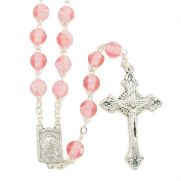 Lady of Lourdes Silk Beads Rosaries