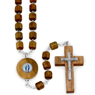 Lady of Grace Wooden Rosary