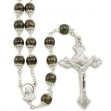 Catholic Rosary Moonstone Capped Beads