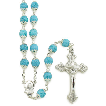 Moonstone Capped Beads Rosary
