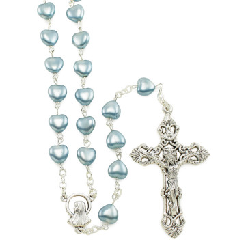 Glass Heart Beads Rosaries
