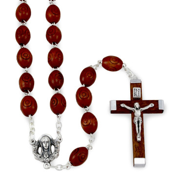 Carved Wooden Beads Rosaries