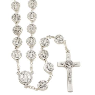 St. Benedict Metal Beads Catholic Rosary
