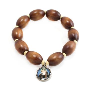 Padre Pio Catholic Rosary Bracelet