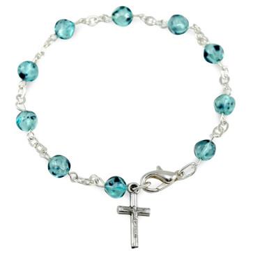 Glass Beads Catholic Rosary Bracelet