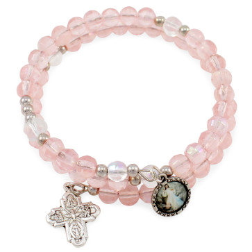Divine Mercy Wrap Around Rosary Catholic Bracelet