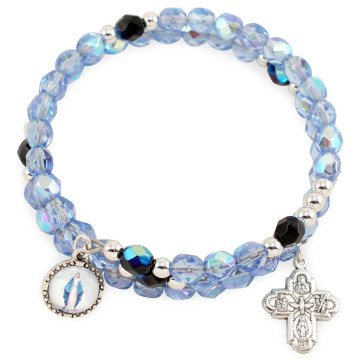 Lady of Grace Wrap Around Catholic Rosary Bracelet