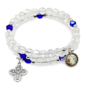 Divine Mercy Wrap Around Catholic Rosary Bracelet