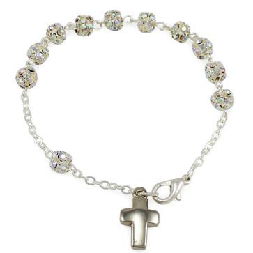 Rhinestones Catholic Rosary Bracelet