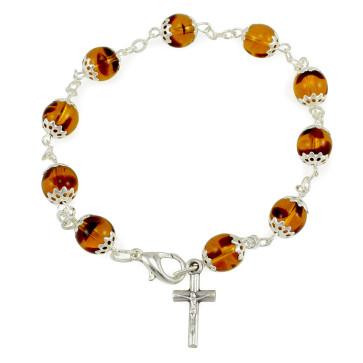 Rosary Bracelet Capped Beads
