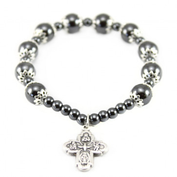 Hematite Rosary Bracelet