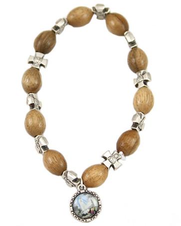 Catholic Rosary Bracelet, Our Lady of Fatima Medal
