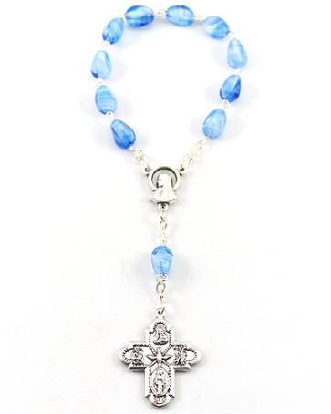 Glass Beads Decade Catholic Rosary