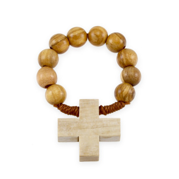 Olive Wood Beads Decade Rosary
