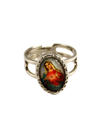 Sacred Heart of Mary Catholic Ring