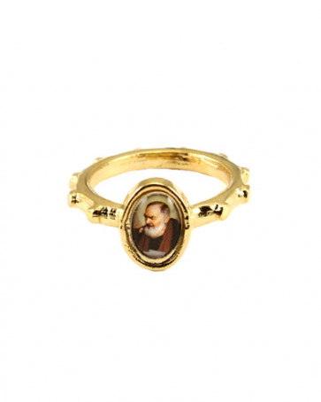 Padre Pio Catholic Rosary Ring