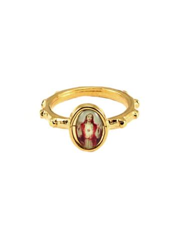 Sacred Heart of Jesus Catholic Rosary Ring