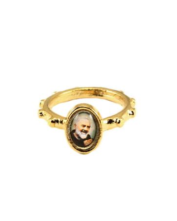 Padre Pio Catholic Rosary Ring