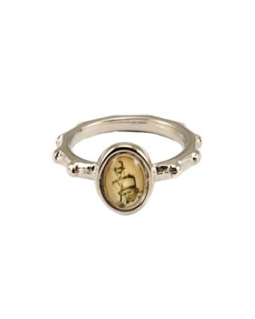 Pope John Paul II Silver Catholic Rosary Ring