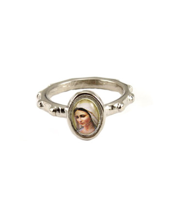 Lady of Medjugorje Catholic Rosary Ring