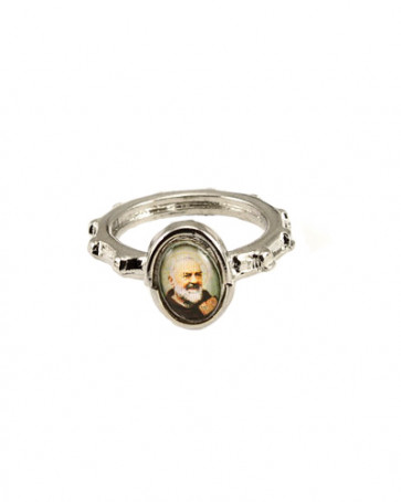 St. Padre Pio Rosary Ring