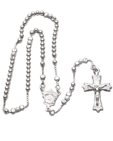 Sterling Silver Sliding Beads Rosary