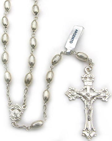 Sterling Silver Beads Catholic Rosary