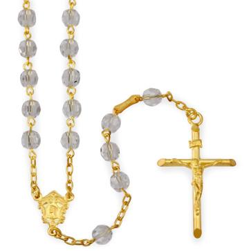 Clear Swarovski Crystal Beads Rosary