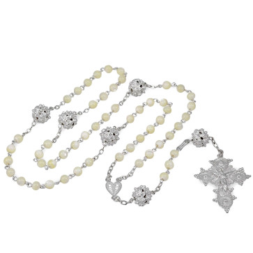 Mother of Pearl Beads Catholic Rosary