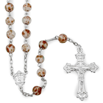 Gold Flecked Catholic Rosary