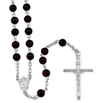 Garnet Beads Catholic Rosary