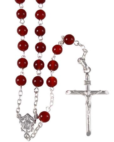 Corniola Beads Catholic Rosary