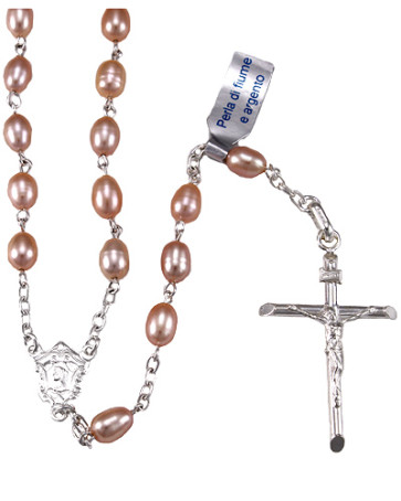 Pearl Beads Catholic Rosary