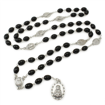 Black Wooden Beads Rosary Chaplets
