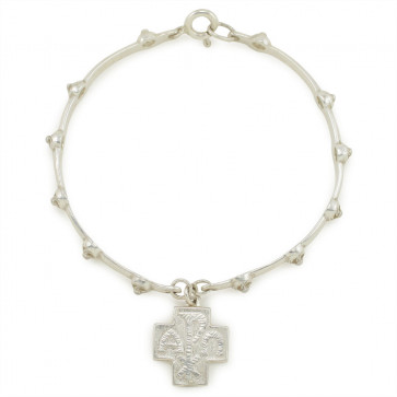 Sterling Silver Rosary Bracelet